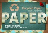 Recycled Stripe Paper Text Effect PSD Vol.5
