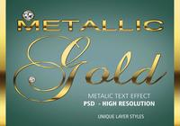Realistisch Gold Text Effect PSD Vol.7