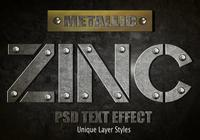 Zink-Text-Effekt PSD Vol.8