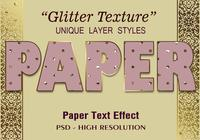 Glitterpapier-Text-Effekt PSD Vol.6