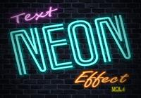 Neon Tekst Effect PSD Vol.4