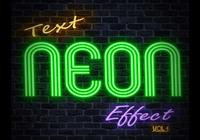 Neon Text Effect PSD Vol.5