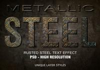 Rusted Steel Text Effect PSD Vol.10