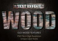 Gamla Wood Text Effect PSD Vol.4