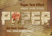 Old Book Page Text Effect PSD Vol.8