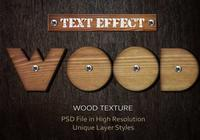 Hout Tekst Effect PSD Vol.7