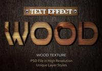 Wood Text Effect PSD Vol.8