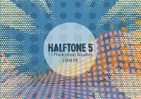 Halftone Photoshop Brushes 5
