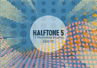 Halftone Photoshop Brushes 5
