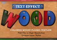 Colored Wood Planks Text Effect PSD Vol.10