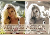 Effet photo vintage PSD & Action atn. Vol.4