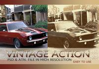 Vintage Photo Effect PSD & Action atn. vol.5