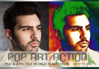Efeito de Foto Pop Art PSD & Ação atn. Vol.4