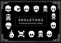 Pinceles de Photoshop Skeleton 2
