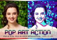 Effet photo Pop Art PSD & Action atn. Vol.7