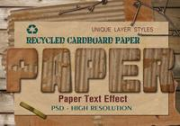 Cardboard Paper Text Effect PSD Vol.7