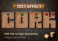 Kork-Text-Effekt PSD Vol.9