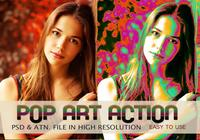 Pop Art Fotoeffekt PSD & Action atn. Vol.8