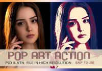 Pop Art Fotoeffekt PSD & Action atn. Vol 1