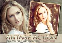 Vintage Photo Effect PSD & Action atn. Vol.10