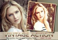 Vintage foto-effect PSD & actie atn. Vol.10