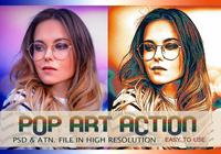 Pop Art Fotoeffekt PSD & Action atn. Vol.9