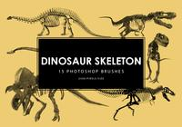 Dinosaur Skeleton Photoshop Brushes