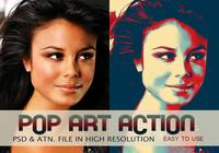 Pop Art Fotoeffekt PSD & Action atn. Vol.10