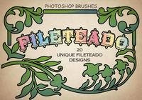 20 Fileteado PS Brushes abr. Volúmen 1
