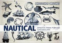 21 Vintage Nautical PS Brushes abr. vol.3