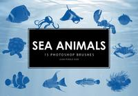 Sea Animals Pinceles para Photoshop
