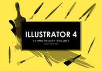 Illustrator Photoshop borstar 4
