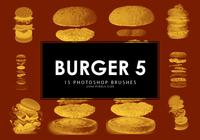 pinceles de hamburguesas photoshop 5