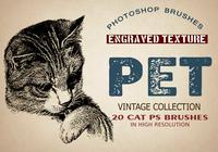 "20 Pet ""Cats"" PS Brushes."