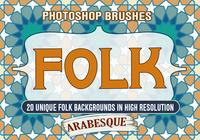 20 Folk Arabesque Design PS-borstels abr.