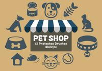 Pinceles para Photoshop de Pet Shop