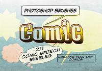 20 Comic Speech Bubbles PS Brushes abr.