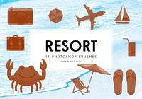 pinceles de photoshop de resort