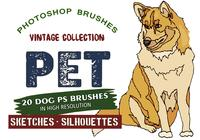 20 Pet Dogs PS Brushes abr.