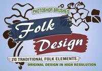 20 Folk PS Brushes abr.