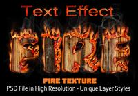 Fire Text Effect PSD file