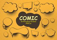 Escovas Comic Photoshop