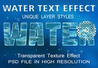 Water Text Effect PSD file