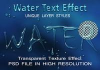 Water Text Effect PSD-fil