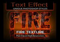 Fichier PSD Fire Text Effect