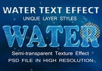 Water Text Effect PSD-bestand