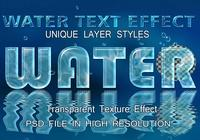 Archivo PSD Water Text Effect