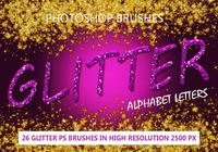 26 Paillettes Alphabet Letters PS Brosses abr.