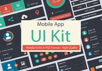 UI Kit PSD - Mobile App