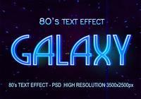 Efecto de texto de 80 PSD